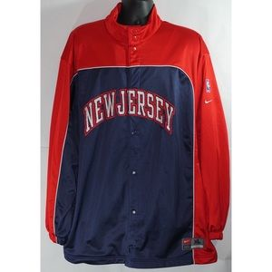 Nike New Jersey Nets NBA Team Warm Up Top XL